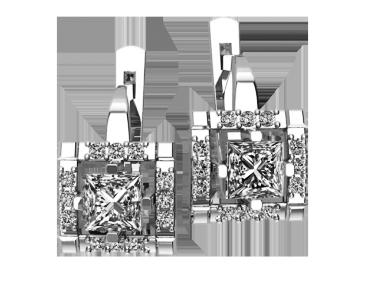 Серьги серебряные  Lady 41275