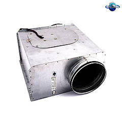 Канальный прямоугольный вентилятор для круглых каналов Турбовент ВКП-К-100