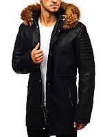Мужское кожаное пальто ххл