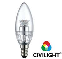 Світлодіодна лампа  C35 KF25T4, 4 Вт, 250 лм, 2900К, Е14