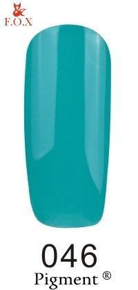 Гель-лак F.O.X Pigment 046 (бирюзово-зеленый, эмаль), 6 ml