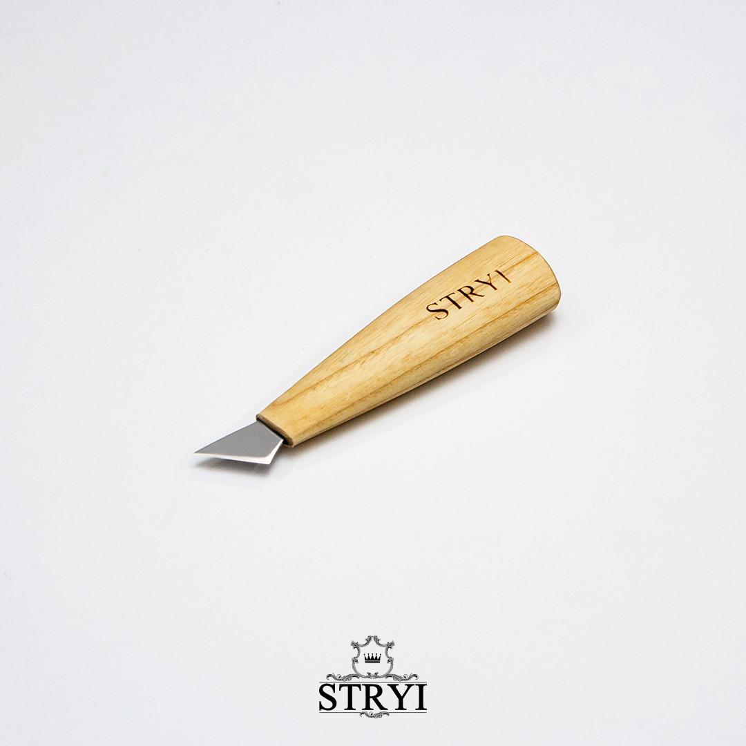 Стамеска ніж-косяк 45 градусів, 20мм для різьби по дереву від виробника STRYI