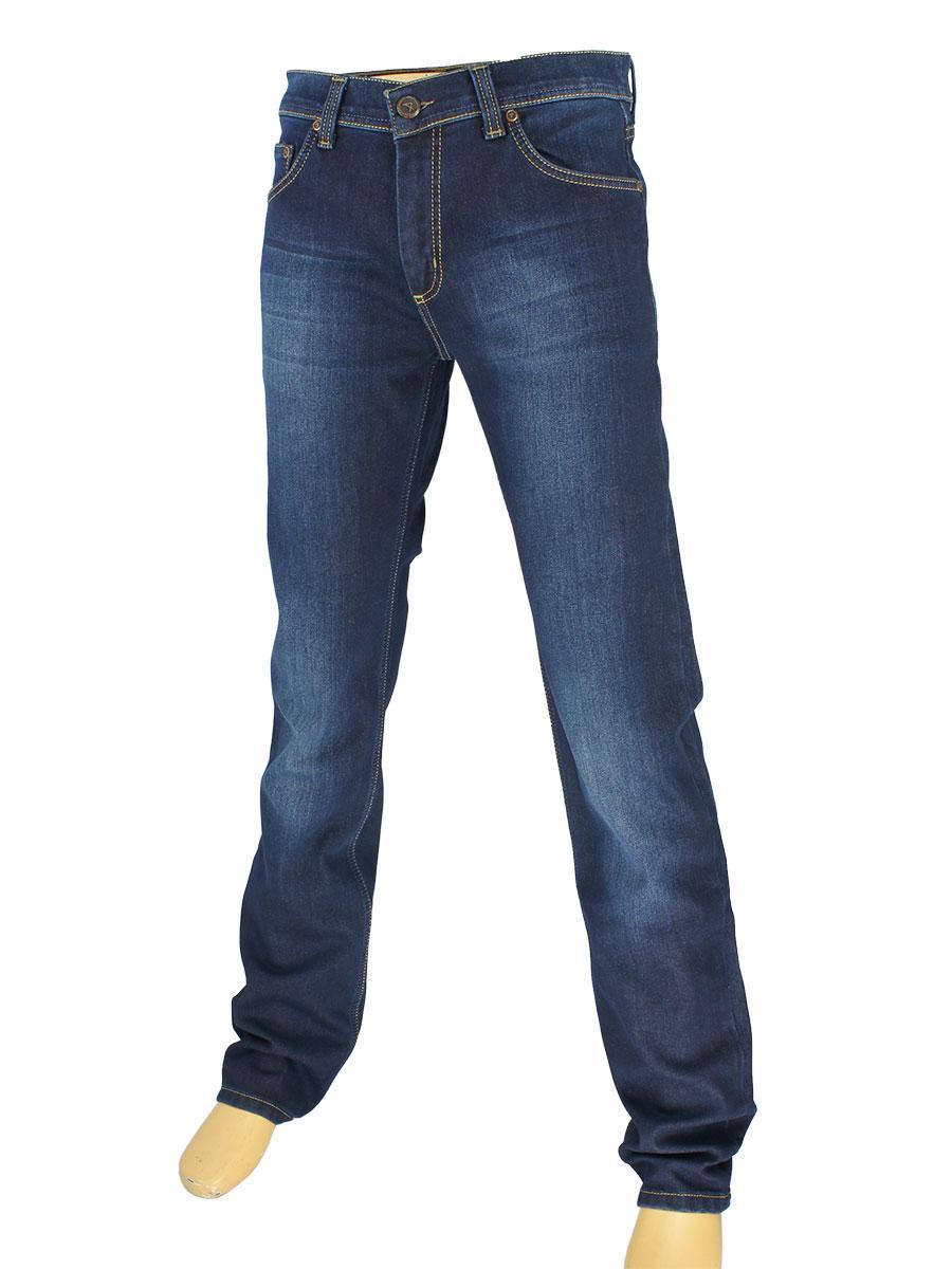 Стильні чоловічі джинси Activator 105-L в темно-синьому кольорі на флісі