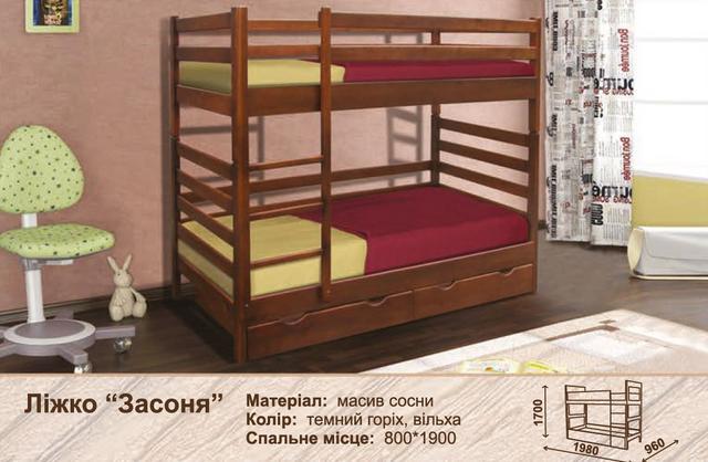 Кровать двухъярусная Засоня (характеристики)