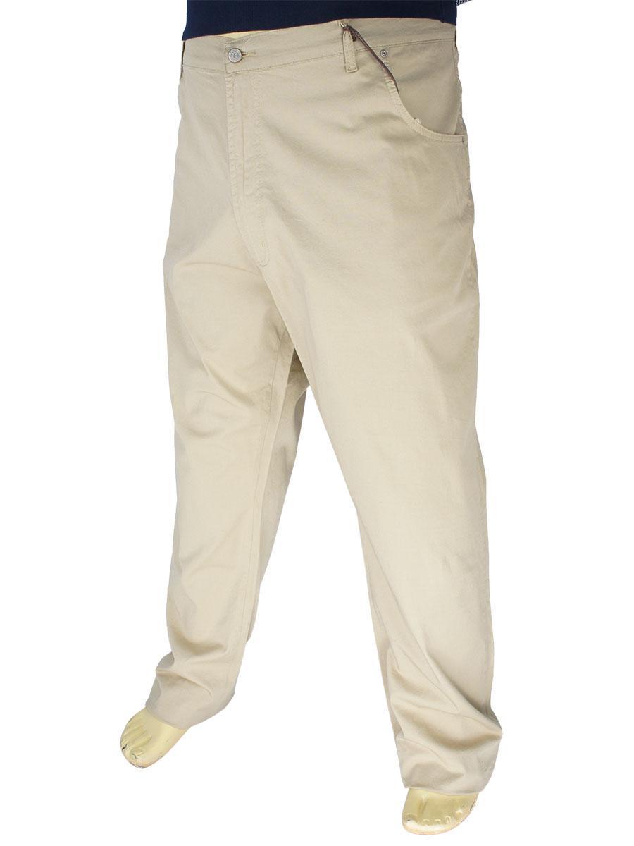 Бежеві чоловічі джинси Dekons M-507 k-91 у великому розмірі
