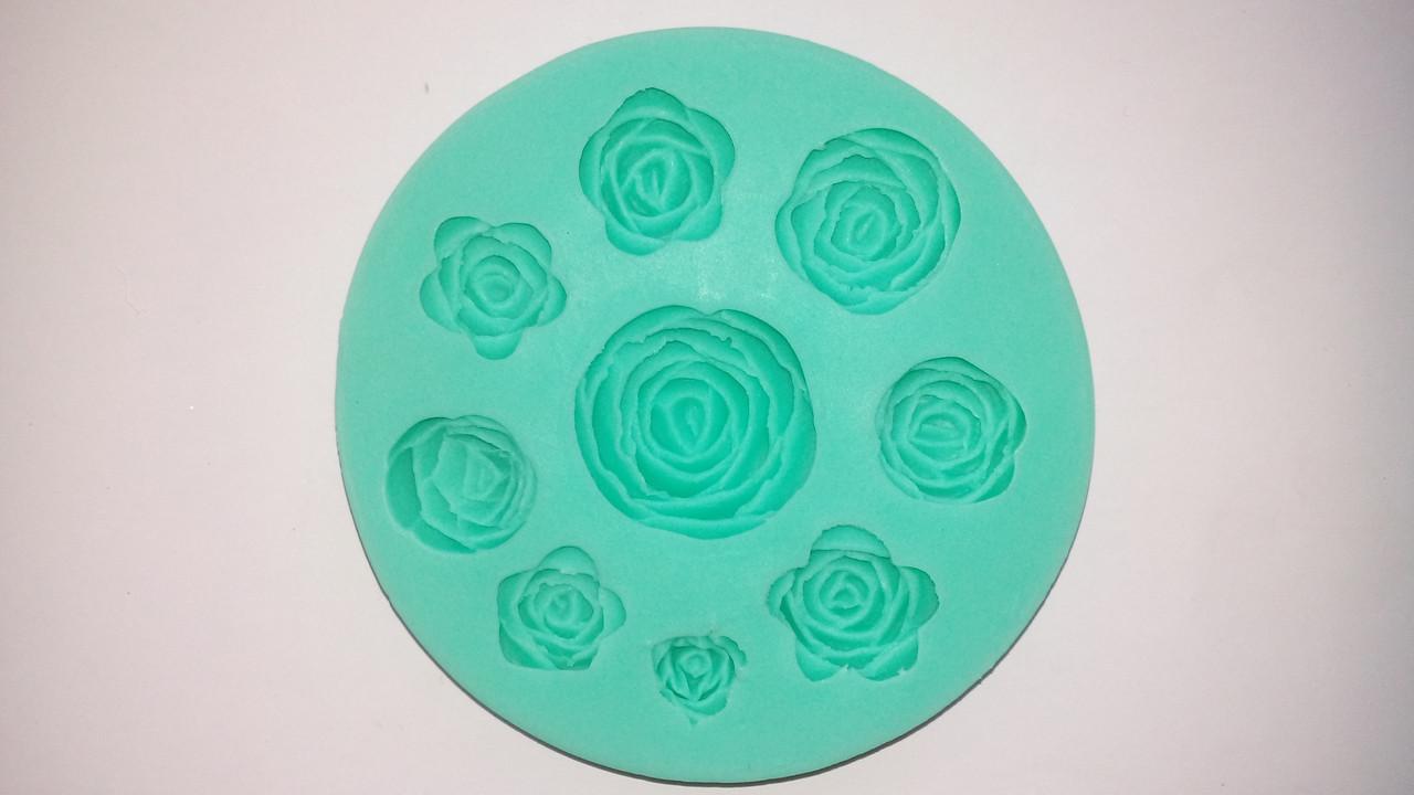 Молд силиконовый девять роз