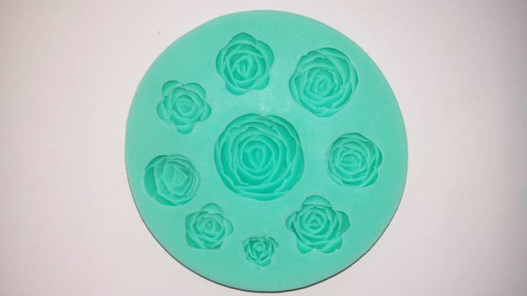 Молд силиконовый девять роз, фото 2