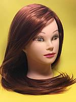 Голова учебная для парикмахеров. Рыжая
