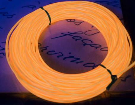 Электролюминесцентный провод (холодный неон) III поколение, диаметр- 2.2мм., цвет Оранжевый, фото 2