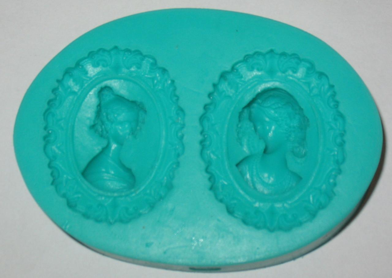 Молд силиконовый Два портрета женщины 3D