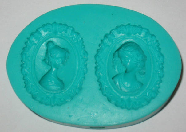 Молд силиконовый Два портрета женщины 3D, фото 2