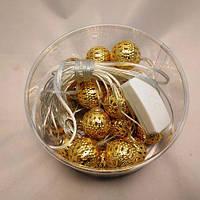 Новорічна гірлянда Кульки золото