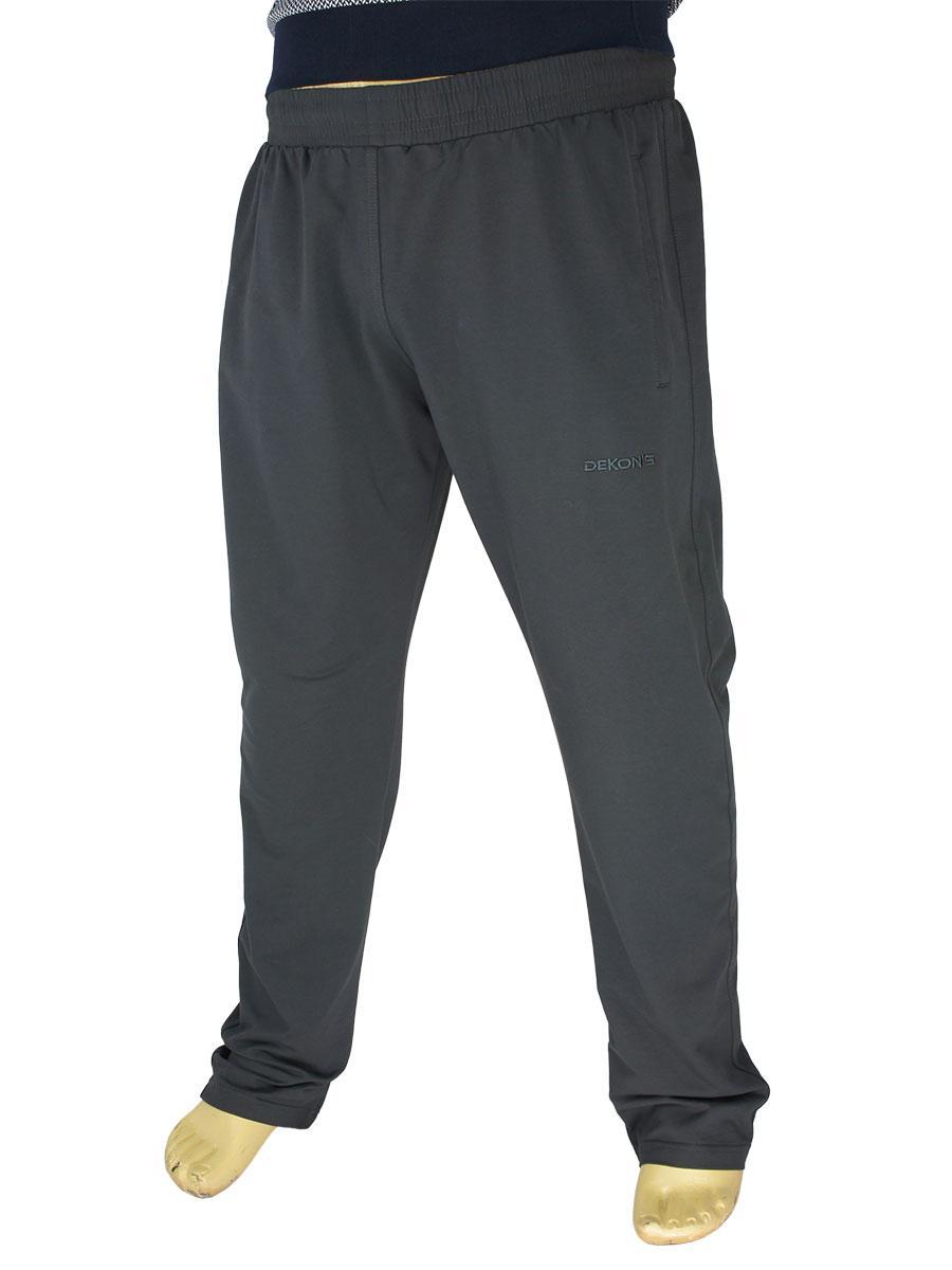 Чоловічі бавовняні спортивні штани Dekons 1071 B Antrasit великого розміру