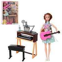 Кукла с синтезатором Певица шарнирная гитара микрофон, 7728-B1, 009665, фото 1
