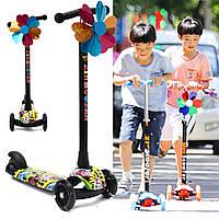 BIKIGHTДетиСкладывающиесямигающие3колеса Трицикл Kick Push Дети Скутер Kickboard Регулируемый Heig 1TopShop
