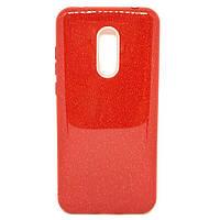 Чехол силиконовый Shining Glitter с блестками для Xiaomi Redmi 5 Красный, КОД: 289137