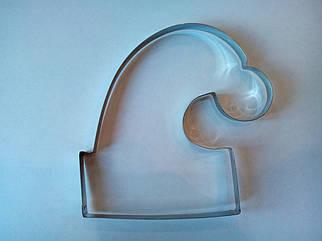 Форма металл для пряников новогодняя шапочка