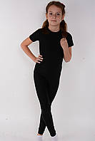 Детские лосины для танцев и гимнастики Черный бифлекс