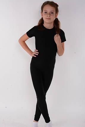 Детские лосины для танцев и гимнастики Черный бифлекс, фото 2