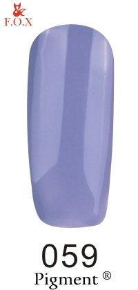 Гель-лак F.O.X Pigment 059 (сиреневый, эмаль) 6 ml