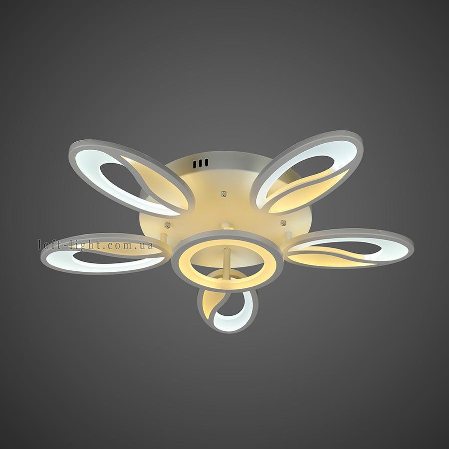 Люстра потолочная светодиодная   55-MX10001-5+1 WH LED