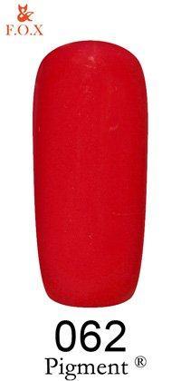 Гель-лак F.O.X Pigment 062 (красный, эмаль) 6 ml
