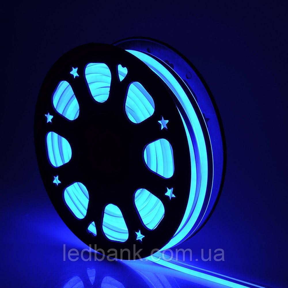 Светодиодный неон гибкий 12В 2835 120 LED Neon Flex IP65 Синий