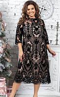 Нарядное вечернее новогоднее стильное платье размеры: 48-50,52-54,56-58