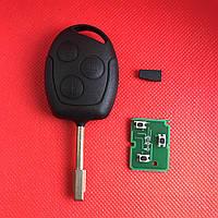 Ключ  Форд мондео, фокус, Ford mondeo, focus, transit 3 кнопки с чипом 4D 433Mhz лезвие FO21