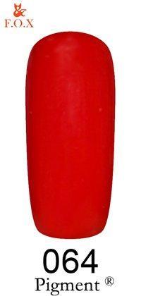 Гель-лак F.O.X Pigment 064 (бордо, эмаль),6 ml