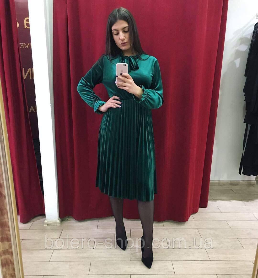 Женское платье миди  с  рукавом Италия