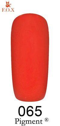 Гель-лак F.O.X Pigment 065 (глубокий карминно-розовый, эмаль),6 ml