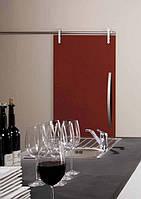 Дверь раздвижная 800 х 2100 мм из закаленного стекла окрашенного 10 мм