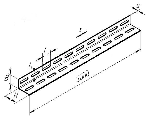Угол стальной перфорированный К242