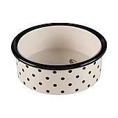 Миска керамическая для собак и котов Trixie «Zentangle» 300 мл / 12 см (кремовая), TX-25120