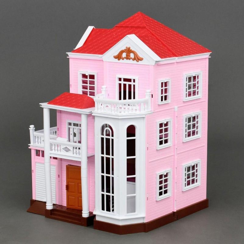 Домик Happy Family 1513 трехэтажный со светом