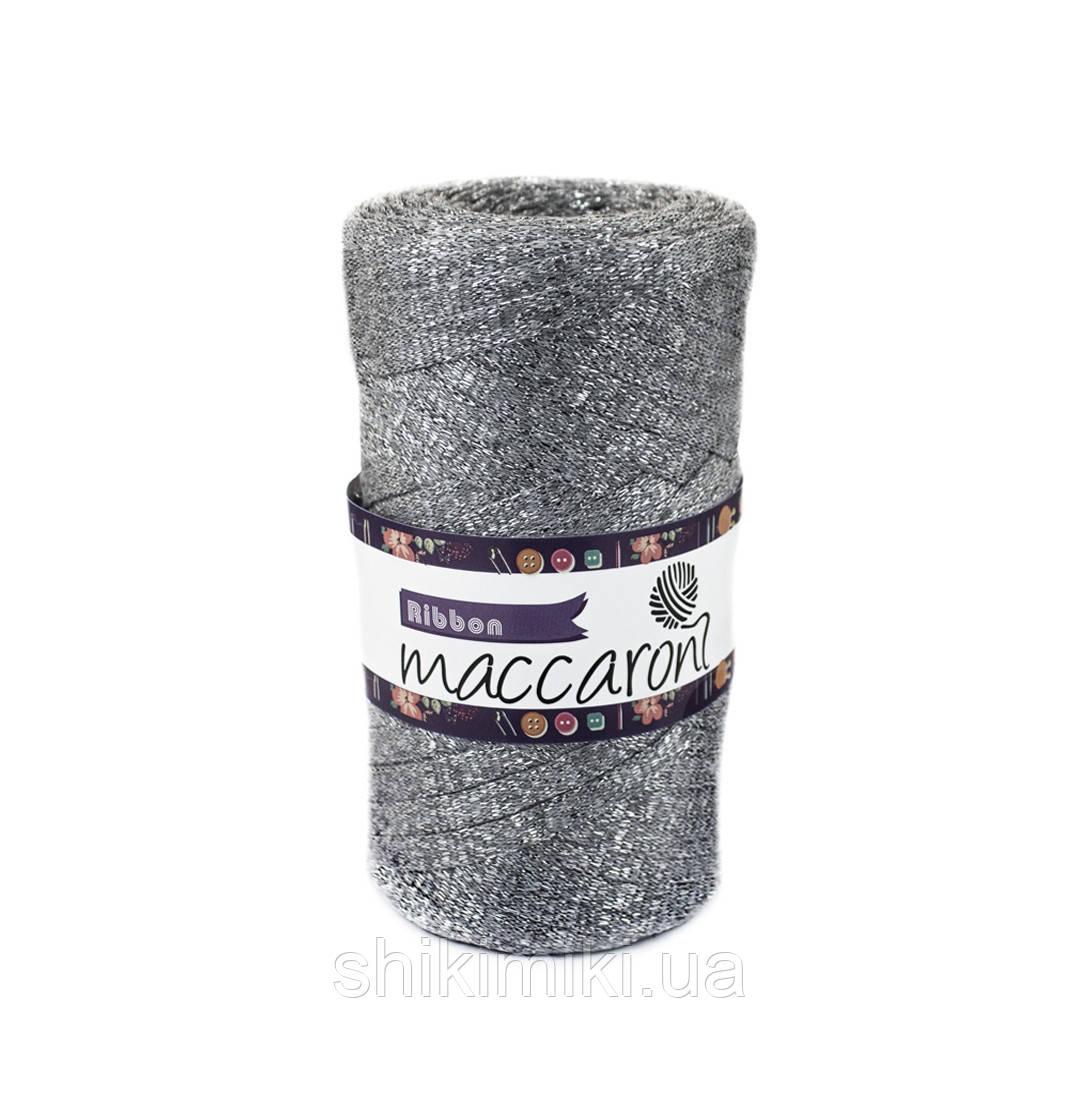 Трикотажный плоский шнур Ribbon Glitter, цвет Серый
