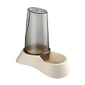 Миска с дозатором для воды Trixie пластиковая 3,5 л (бежевая, коричневая), TX-25094