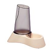 Миска с дозатором для воды и корма Trixie пластиковая 650 мл (бежевая, коричневая), TX-25090