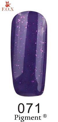 Гель-лак F.O.X Pigment 071 (фиолетовый, с розовыми блесточками),6 ml