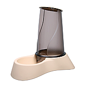 Миска с дозатором для корма Trixie пластиковая 1,5 л (бежевая, коричневая), TX-25091