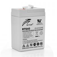 Аккумуляторная батарея AGM RITAR RT628, Gray Case, 6V 2.8Ah  ( 66х34х 97 (103 ) ) Q20