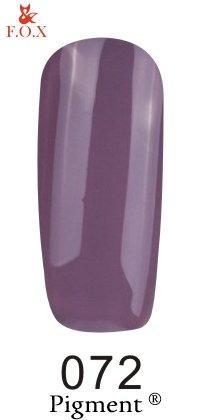 Гель-лак F.O.X Pigment 072 (пастельный темно-сиреневый, эмаль),6 ml