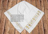 Крыжма полотенце 135х70 см для крещения младенца махровая крестить на крестины крещение 2133 Белый