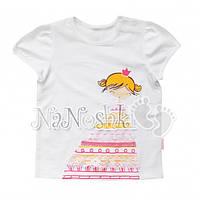 БЕМБИ, футболка с девочкой ФБ288, белая