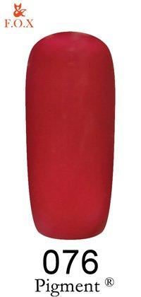 Гель-лак F.O.X Pigment 076 (фалунский красный, эмаль),6 ml