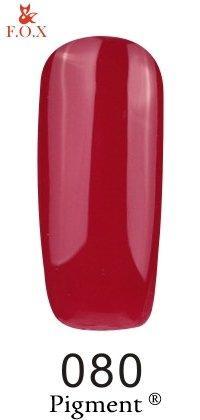 Гель-лак F.O.X Pigment 080 (малиново-красный, эмаль),6 ml