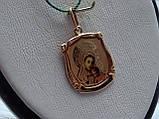 Золотая подвеска-иконка Божией Матери, фото 5