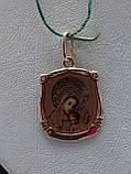 Золотая подвеска-иконка Божией Матери, фото 8