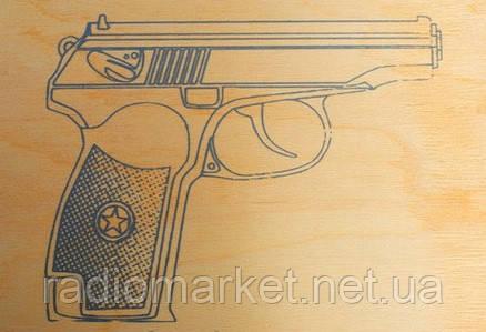 """Дощечка для випалювання """"Пістолет"""" А5 (сорт 0)"""